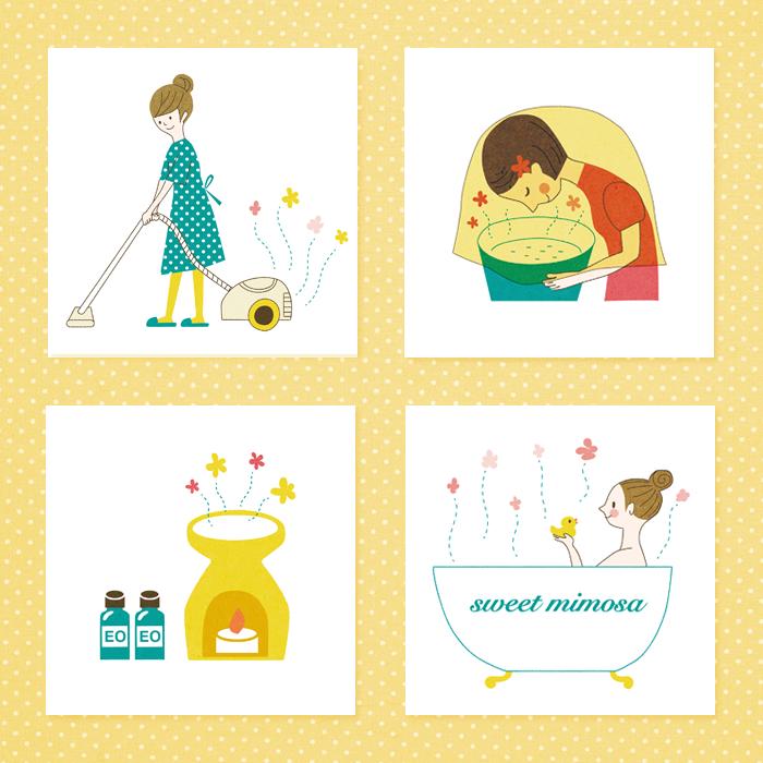 sweet-mimosaさま テキスト用イラスト