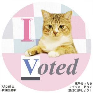 選挙ステッカー猫3