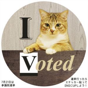 選挙ステッカー猫4