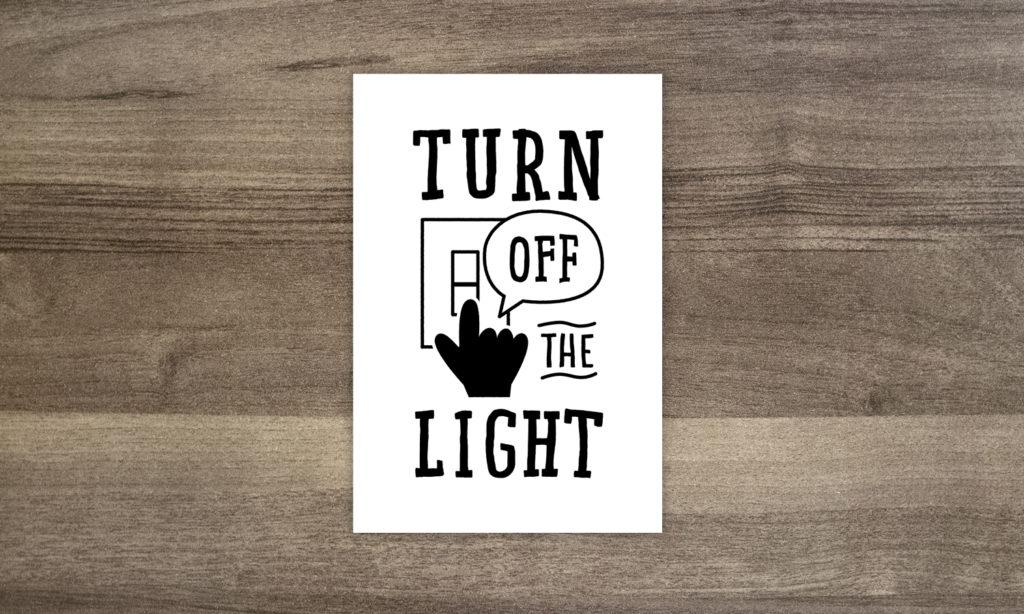 【ご自由にお持ち帰りください】電気を消して!カード