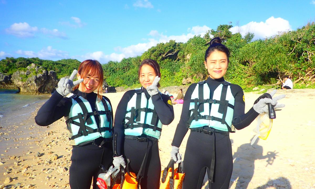 11月に沖縄でシュノーケリングしてみた