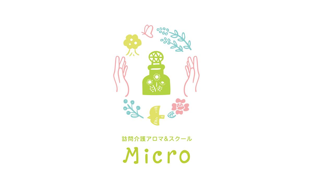 訪問介護アロマ&スクールMicroさまロゴ